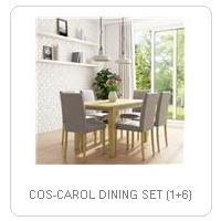 COS-CAROL DINING SET (1+6)